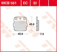 Bremsbelag MCB561SI