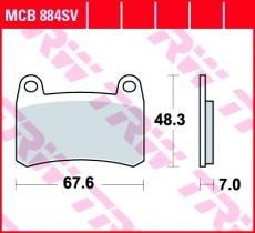 Bremsbelag MCB884SV