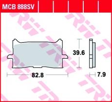 Bremsbelag MCB888SV