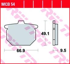 Bremsbelag MCB54