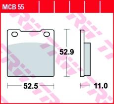 Bremsbelag MCB55