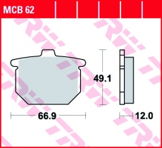 Bremsbelag MCB62