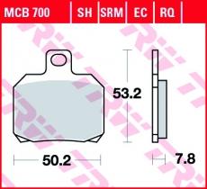 Bremsbelag MCB700