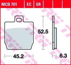 Bremsbelag MCB701