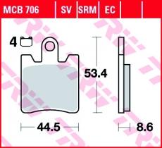 Bremsbelag MCB706