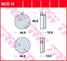 Bremsbelag MCB14