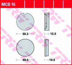 Bremsbelag MCB16