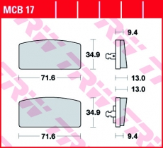 Bremsbelag MCB17