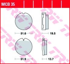 Bremsbelag MCB35