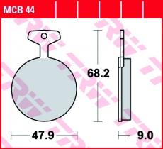 Bremsbelag MCB44