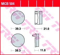 Bremsbelag MCB504