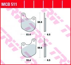 Bremsbelag MCB511