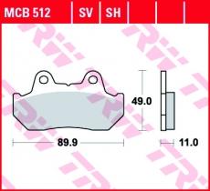 Bremsbelag MCB512