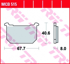 Bremsbelag MCB515