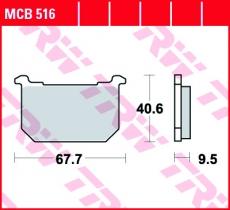 Bremsbelag MCB516