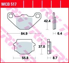 Bremsbelag MCB517