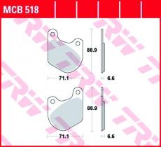 Bremsbelag MCB518