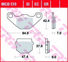 Bremsbelag MCB519