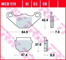 Bremsbelag MCB519SI