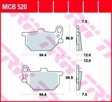 Bremsbelag MCB520