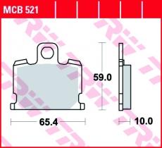 Bremsbelag MCB521