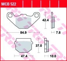 Bremsbelag MCB522