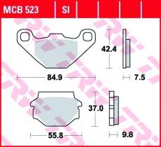 Bremsbelag MCB523SI