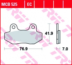 Bremsbelag MCB525