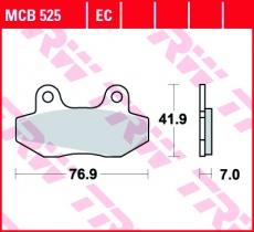 Bremsbelag MCB525EC
