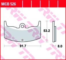 Bremsbelag MCB526