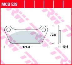 Bremsbelag MCB528