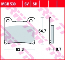 Bremsbelag MCB530SV