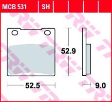 Bremsbelag MCB531SH