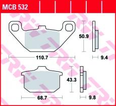 Bremsbelag MCB532