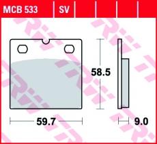 Bremsbelag MCB533SV