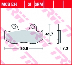 Bremsbelag MCB534