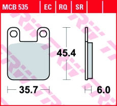 Bremsbelag MCB535