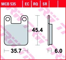 Bremsbelag MCB535RQ