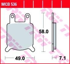 Bremsbelag MCB536