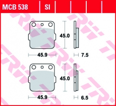 Bremsbelag MCB538