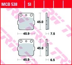 Bremsbelag MCB538SI