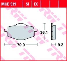Bremsbelag MCB539