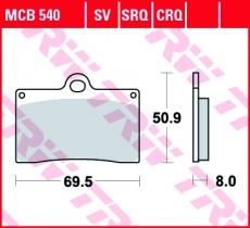 Bremsbelag MCB540