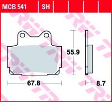 Bremsbelag MCB541