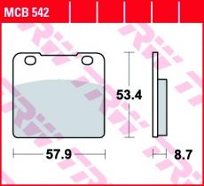 Bremsbelag MCB542