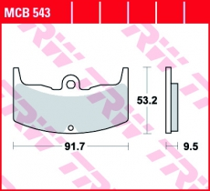 Bremsbelag MCB543