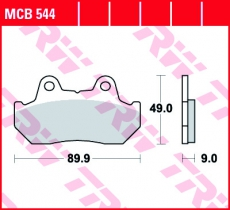 Bremsbelag MCB544