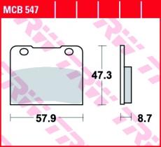 Bremsbelag MCB547