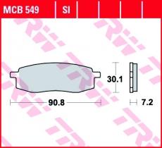 Bremsbelag MCB549