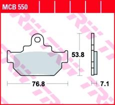 Bremsbelag MCB550